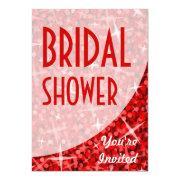 Glitz Red Curve 'bridal Shower'