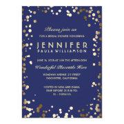 Gold And Navy Confetti Vintage Bridal Shower