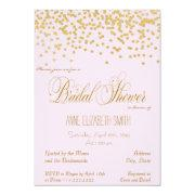 Gold Confetti Pink Bridal Shower