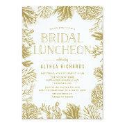 Gold Corals Frame Beach Bridal Luncheon