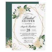 Gold Glitters Greenery Floral Bridal Shower Brunch