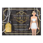 Gold Lingerie Bridal Shower 1920s Pearl