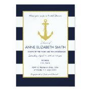Gold Nautical Bridal Shower
