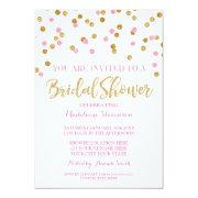 Gold Pink Confetti Bridal Shower