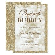 Gold Sequins Brunch & Bubbly Bridal Shower Invitation