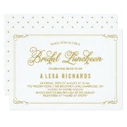 Gold Whimsical Borders Bridal Luncheon