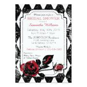 Goth Roses Grunge Diamond Print Bridal Shower