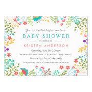 Graceful Tiffany Blue Floral Cute Bridal Shower