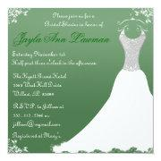 Green Bridal Shower Wedding Gown