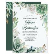 Greenery | Elegant Country Garden Bridal Shower Invitation