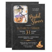 Halloween Witch And Pumpkin Bridal Shower Party