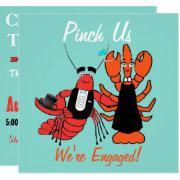 Happy Couple Engagement Crawfish Boil Party