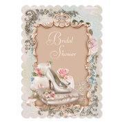 High Heel Shoe Vintage Bridal Shower Invitations