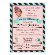 Horse Racing Derby Bridal Shower Invitations