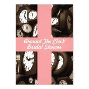 Host Around The Clock Bridal Shower Invitations