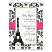 Hot Pink Eiffel Tower Parisian Bridal Shower