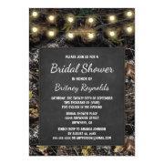 Hunting Camo Chalkboard Bridal Shower Invitations