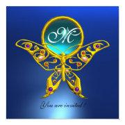 Hyper Butterfly Monogram,blue,turquase Aquamarine