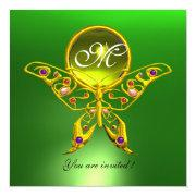 Hyper Butterfly Monogram, Green ,yellow Topaz