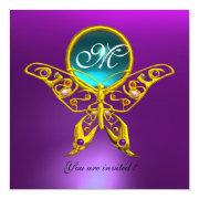 Hyper Butterfly Monogram,purple, Blue,aquamarine