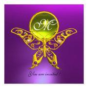 Hyper Butterfly Monogram,purple, Yellow Topaz