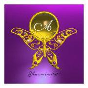 Hyper Butterfly Monogram,yellow Topaz ,purple