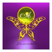 Hyper Butterfly Monogram,yellow Topaz ,purple