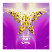 Hyper Butterfly Pink Fuchsia Violet Champagne