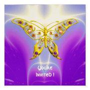 Hyper Butterfly Purple Fuchsia Violet Champagne