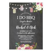 I Do Bbq Couples Shower Jars Lights Chalk Floral Invitations