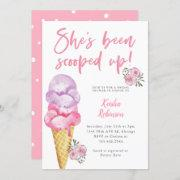 Ice Cream Scooped Up Bridal Shower Invitation