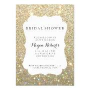 Invite - Bridal Shower Day Fab - Gold Glitter