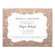 Invite - Bridal Shower Day Fab - Rose Gold Glitter