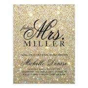 Invite -gold Glitter Fab Future Mrs. Bridalshower3