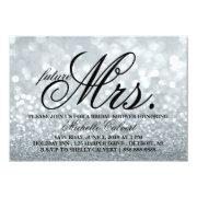 Invite - Silver Glitter Fab Shower Future Mrs