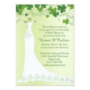 Irish Shamrock, Wedding Gown Bridal Shower