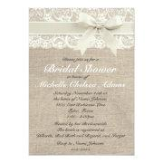 Ivory Lace Burlap Bridal Shower