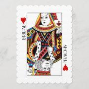 King & Queen Of Hearts Casino Bridal Shower Invitation