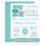 Kitchen Bridal Shower Invitation, Faux Foil