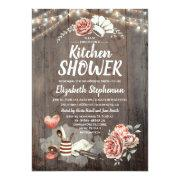 Kitchen Shower - Rustic Country Bridal Shower Invitation