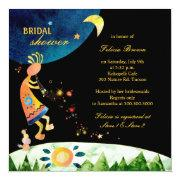 Kokopelli's Glitzy Music Bridal Shower Invitations