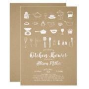 Kraft Stock The Kitchen Bridal Shower Invitations