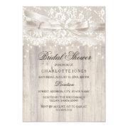 Lace Bow Sparkle Lights Rustic Bridal Shower