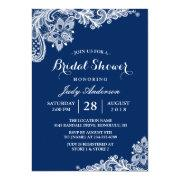 Lace Bridal Shower Trendy Navy Blue