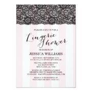 Lace Lingerie Shower Invitation