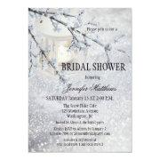 f0e6d535b51 Lantern Snow Winter Bridal Shower Invitation