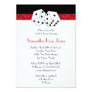 Las Vegas Wedding Bridal Shower Red Dice Theme