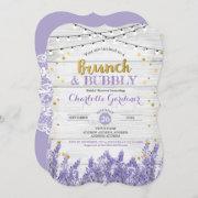 Lavender Brunch & Bubbly Bridal Shower Invitation
