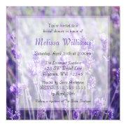 Lavender Flowers Bridal Shower Invitation