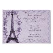 Lavender Paris Grunge Bridal Shower